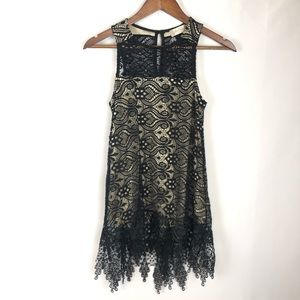 Altar'd State Lace Black Sleeveless Tank S